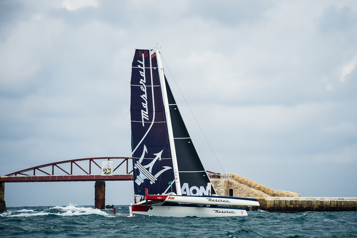 Giovanni Soldini and Maserati Multi 70's Team started the 39th Rolex Middle Sea Race The Italian crew is flying at 15 knots in first place